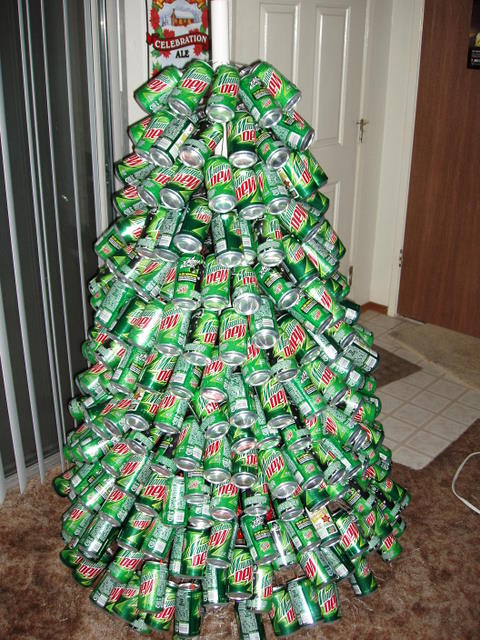 mountain dew cans - Awesome Christmas Trees