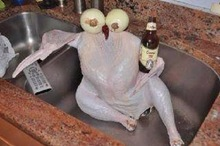 Directions said to take the chicken out of the fridge and let it chill for a few hours