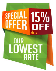 Special Offer: 15% Off Our Lowest Rate
